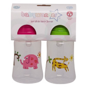 Baby Wonder Wide Neck Bottle with Variable Flow 2 Pack Assorted
