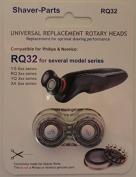 Alternative Shaving-Heads RQ32 (2 heads), fits for several Philips 2-HEADER Shavers