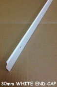 SWEETY HOUSE SWEET HOUSE Kitchen Worktop Edging Trim WHITE END CAP 30mm with screws