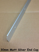 SWEETY HOUSE SWEET HOUSE Kitchen Worktop Edging Trim MATT SILVER END CAP 30mm with screws SPECIAL OFFER
