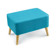 Anti-humpback stool Stool, Change shoe stool Small sofa stool Solid wood Short stool European style Cloth Wearing a shoe stool Simple Coffee table pier Length 60 × width 40 × height 22cm correct sitting posture