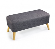 Anti-humpback stool Stool, Change shoe stool Small sofa stool Solid wood Short stool European style Cloth Wearing a shoe stool Long bed stool Simple Coffee table pier Length 90 × width 40 × height 22cm correct sitting posture