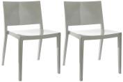 Kartell Lizz Chairs, Grey, 52 x 50 x 74.5 cm