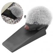 Uarter Cute Hedgehog Door Stopper Door Wedge Finger Protector, Suitable for Home, Black