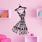 Wall Sticker Coco Chanel Fashion Black