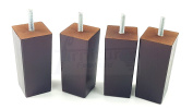 4x REPLACEMENT FURNITURE LEGS SOLID WOODEN FEET - 110mm HEIGHT - SOFAS, CHAIRS, SETTEE, CABINETS - M10(10mm) KNI2055
