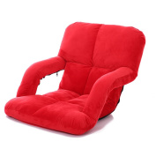 LI JING SHOP - Lazy Sofa Fold Chair Bedroom Living Room Cloth Leisure Armchair With Armrests
