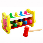 Malloom 2017 New Whac-A-Mole Deluxe Pounding Bench Wooden Toy With Mallet Toy