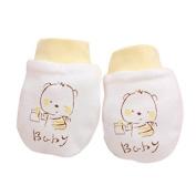Tione-Ve 2 Poneirs Cute Conertoon Boneby Infonent Boys Gitls Anti Scronetch Mittens Soft Newborn Gloves Gift
