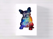home is where the dog is a3 canvas picture nursery gift watercolour paint splatter ready to hang