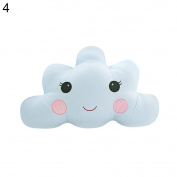 Nuohuilekeji Smile Cloud Pillow Cute Cushion Nursery Cushions for Home Sofa Bedroom Decor