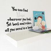 V & C Designs (TM) Dr Seuss You can Find Magic Book Sparkly Wall Sticker Decor great for Bedrooms Reading Corners and Classrooms