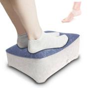 Inflatable Foot Rest Pillow Aeroplane Pillow Rest Cushion Reduce DVT Risk Home Office Leg Rest CompuClever Blue
