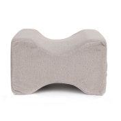 CUSFULL Memory Foam Knee Pillow for Pain Relief, Pregnancy and Side Sleepers With Breathable Washable Cover
