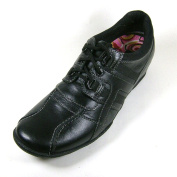 Hush Puppies Mineral Black Leather Girls Lace-up Flat Shoes 5 UK 38 EU