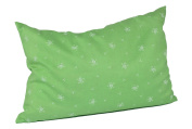 Womax Swiss Pine Cushion 20 x 30 cm with Zip Light Green with White Flower pattern with Swiss Pine Shavings Tyrolean Pine Wood, Washable, Refillable Ökotex 100