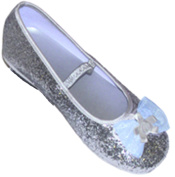 Glitter Party Shoes in Silver EU 29-30 UK 11/12-Age 5/6 years