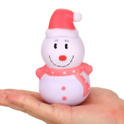 Jieju 12cm Christmas Snowman Cream Scented Squishy Slow Rising Squeeze Toy Stress Relief Gift