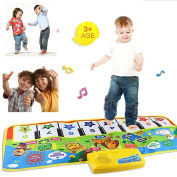 . Musical Dance Mat Kids Baby Touch Play Keyboard Music Singing Gym Carpet Mat Best Kids Baby Gift