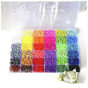 Best for baby DIY toys Plastic toys 36 Colour Perler Beads Ironing Beads 5mm Diy Beads Plastic toys