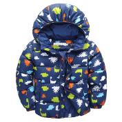 ZHUOTOP Baby Boys Cute Dinosaur Coat Toddler Boy Kids Outerwear Jacket for Fall Winter Navy 6T