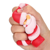 Masrin Adorable Stress Relief Squeeze Toy Merry Christmas Santa Claus Scented Squishy Charm Slow Rising Kids Xmas Gift Toy