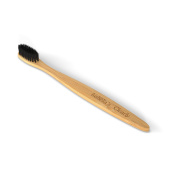 Isabella's Clearly BAMBOO Toothbrush, Gentle Soft Charcoal Infused Nylon BPA-Free Bristles. Eco-Friendly & Biodegradable with Natural & Organic Materials. Good for Teeth & Earth. Natural Dental Care.