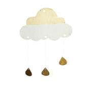 Tinksky Kids Room Decor Cloud Raindrop Hanging for Baby Photography Decoration Wooden Wall Stickers DIY Wall Art Decor for Baby Shower