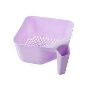 Z@SS-Fruit Basket Plastic Vegetable Basket Household Living Room Fruit Basket Drain Basket Fruit Storage Basket 24.5 * 24.5 * 11cm