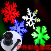 SIRIUS HEART Snowflake Projector Outdoor Waterproof Snowflake Light Rotating Stage Lights Christmas Snowflake Colour Snowflake