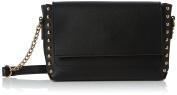 New Look Womens Sophie Silver Stud Sleek Cross-Body Bag Black