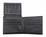 Skyhill Genuine Black Leather RFID Blocking Wallets Mens Wallet (black) 1 YEAR MONEY BACK GUARANTEE, NO QUIBBLE