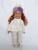 'Apres Ski' outfit with cross trainers and hat to fit Designafriend;Sindy; Our Generation; Journey Girls and other 46cm dolls