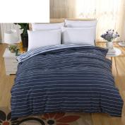 Cotton Quilt Cover Luxurious Soft Comfortable Zip Light Breathable Durable Prevent Allergy-K 180x220cm