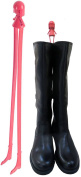 Long Legged Girl Metal Uprights Boot Holder For Calf, Knee & Thigh Length Boots