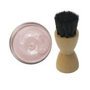 Woly Pink Dusty Rose Shoe Cream 50ml & Fresh Step Luxury Application Brush