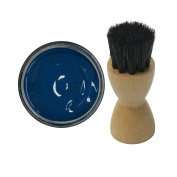 Woly Petrol Blue Shoe Cream 50ml & Fresh Step Luxury Application Brush