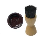 FAMACO RED BORDEAUX DYE CREAM Polish 15ml & Luxury Application Brush