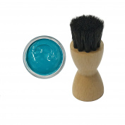 FAMACO BLUE TURQUOISE DYE CREAM Polish 15ml & Luxury Application Brush