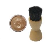 FAMACO BEIGE COLONIAL DYE CREAM Polish 15ml & Luxury Application Brush