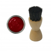 FAMACO RED ROUGE DYE CREAM Polish 15ml & Luxury Application Brush