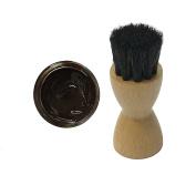 FAMACO BROWN MARRON FONCE DYE CREAM Polish 15ml & Luxury Application Brush