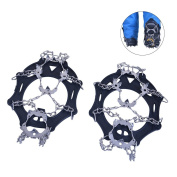 RUNACC Shoes Crampons Stainless Steel Ice Crampons Climbing Traction Cleats for Outdoor Skating and Skiing