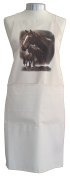 Horses Horse with Foal Equestrian A Natural Cream Cotton Bib Apron - Baker Cook Gift