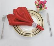 Plain satin glass cloth restaurant wedding banquet activities with napkin ring 48*48cm50,001,