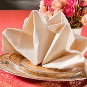 The hotel restaurant napkin napkin jacquard Beige wedding flower 45*45cm50