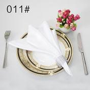Plain satin glass cloth restaurant wedding banquet activities with napkin ring 48*48cm50,011,