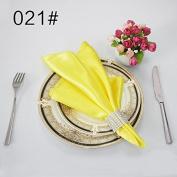 Plain satin glass cloth restaurant wedding banquet activities with napkin ring 48*48cm50,021,