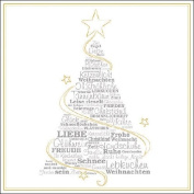 Ambiente Paper Napkins Lunch / Party / ca. 33x33cm Wunschbaum - Christmas - Ideal As A Gift And Decoration