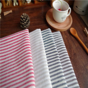 XZX Home High-grade Linen Table Mats Simple Western Restaurant Striped Napkins , red stripe